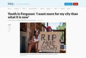 Youth in Ferguson on KBIA-FM