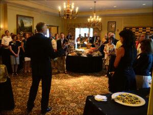 Dean David Kurpius with Alumni in Kansas City