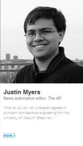 Justin Myers, BJ '11, BS EE '11