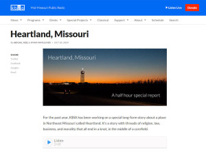 "Special Report by KBIA-FM: ""Heartland, Missouri"""