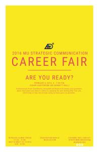 2016 Strategic Communication Career Fair