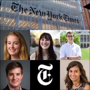 Tracy Cook, Adrienne Donica, Jack Herrick, Austin Huguelet and Daniela Sirtori-Cortina