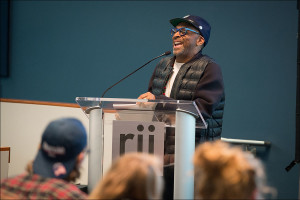Filmmaker Spike Lee Teaches Master Class to Documentary Journalism Students