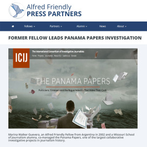 Alumna Marina Walker Leads Panama Paper Investigation, Shares Project with Students