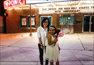 Graduate student Yuting Jiang and the film's subject, Mazy Gilleylen, appeared together at QFest St. Louis on April 26.