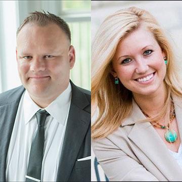 Douglas Wilbur and Danielle Myers