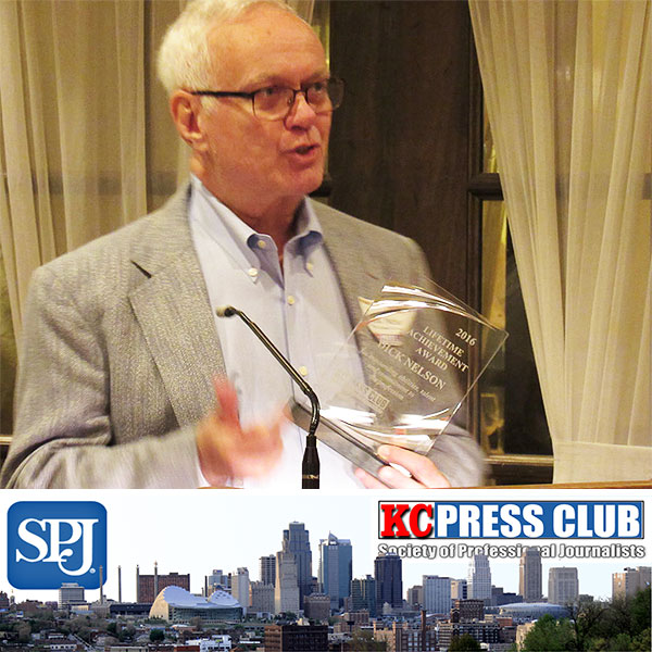 SPJ Awards 2016 with Dick Nelson, BJ '71