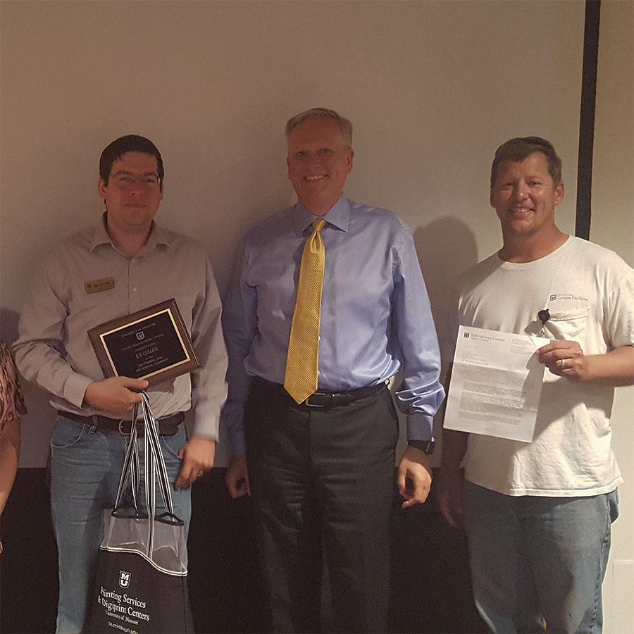 Joe Collins Wins Service Champion Award