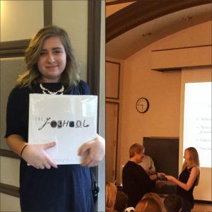 Freshman Walter Williams Scholars Gabriela Jurkiewicz and Natalie Nepper