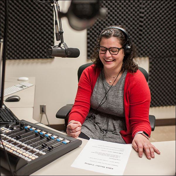 Abby Ivory-Ganja at KBIA News Desk