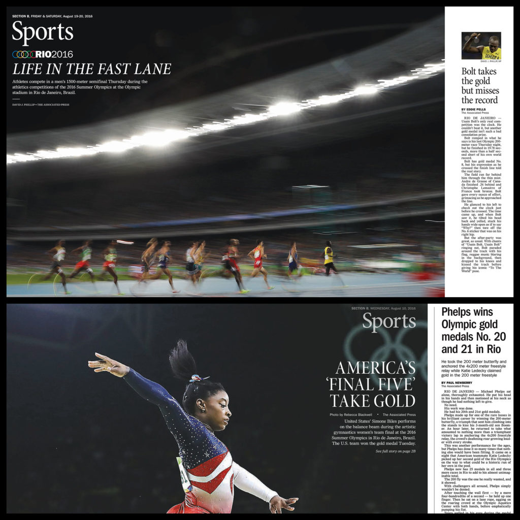 Columbia Missourian Earns International Recognition for Olympic Page Design