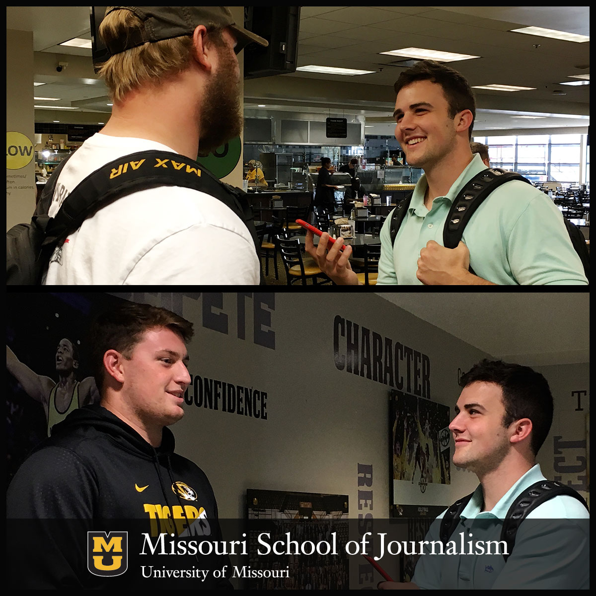 Brad Almquist Interviews Missouri Football Players Paul Adams and Alec Abeln