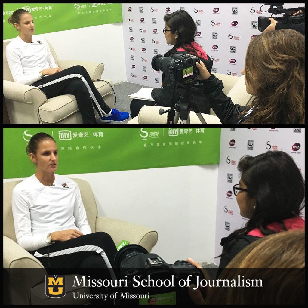 Senior Jacqueline LeBlanc Interviews Karolina Pliskova