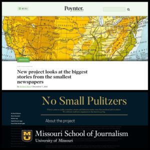 """No Small Pulitzers"" Project by Missouri Students"