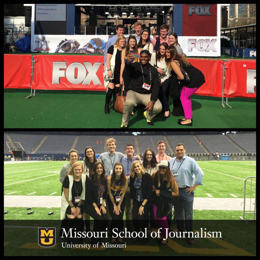 AdZou Students Gets Behind-the-Scenes Look at Super Bowl LI Preparations