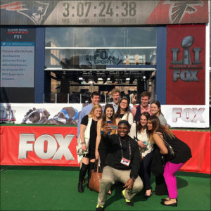Students from Missouri and North Carolina Join the FS1 Team in Houston on Discovery Green