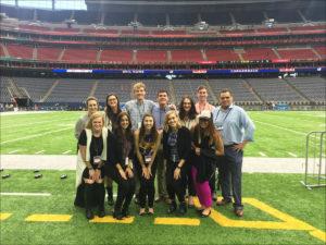 Students from Missouri and North Carolina Tour NRG Stadium