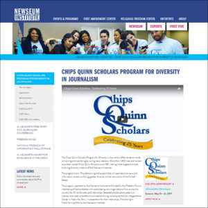 Chips Quinn Scholars Program for Diversity in Journalism
