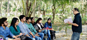 Sujoy Dhar with Students