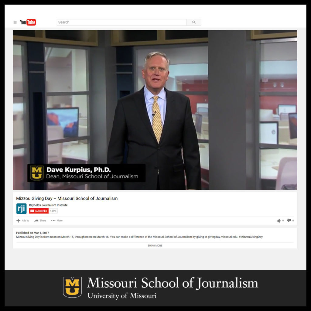 Support the J-School on Mizzou Giving Day