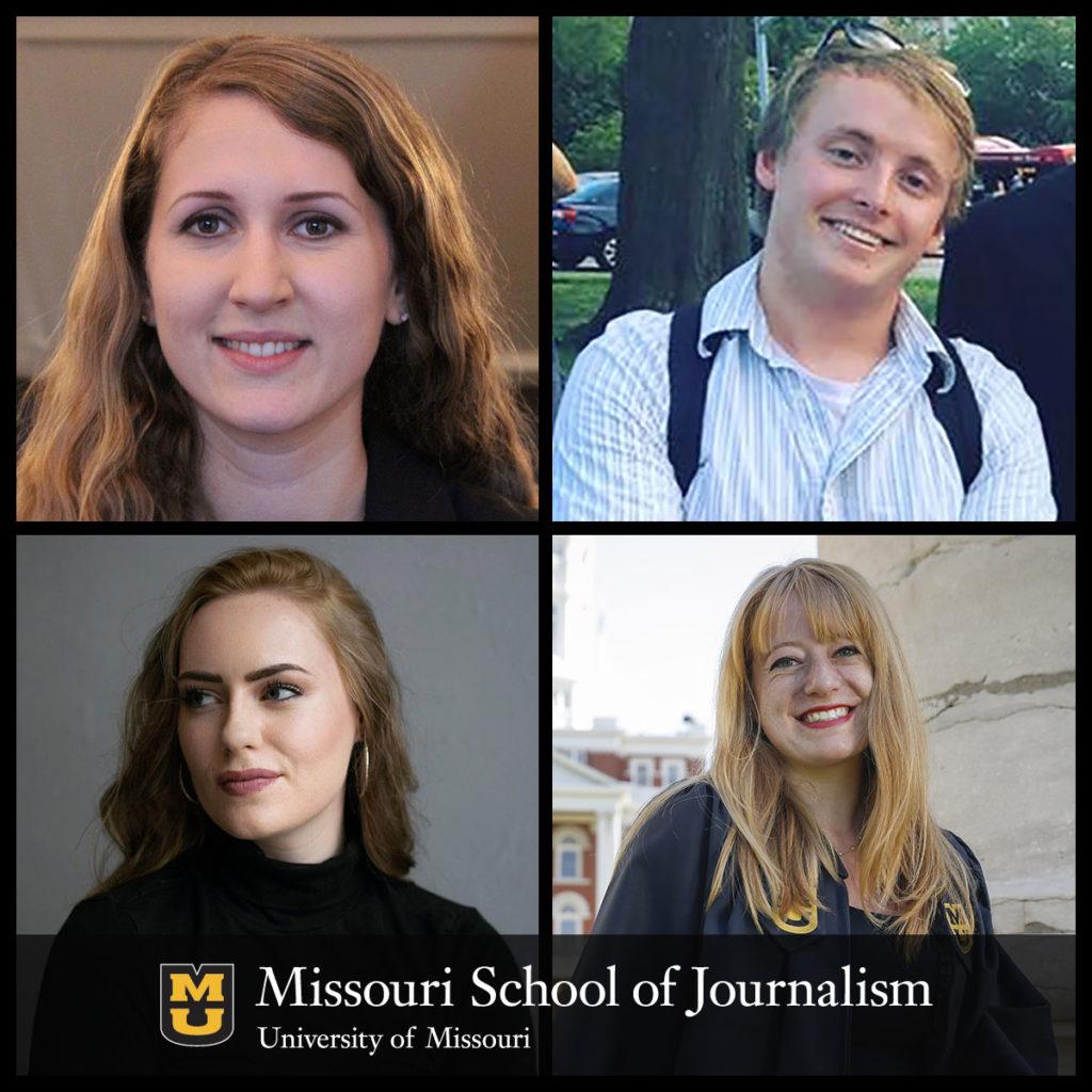 Clockwise from top-left: Iuliia Alieva, Alexander Derosier, Sarah Wynn and Rose McManus