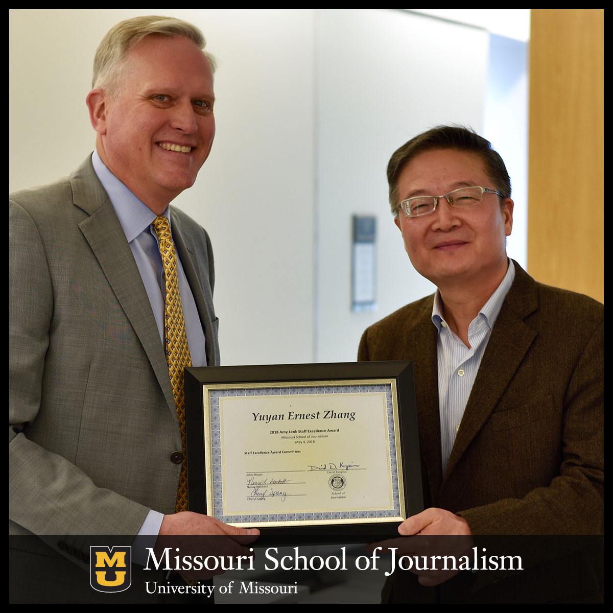 Ernest Zhang Named Recipient Of The Amy Lenk Staff Excellence Award