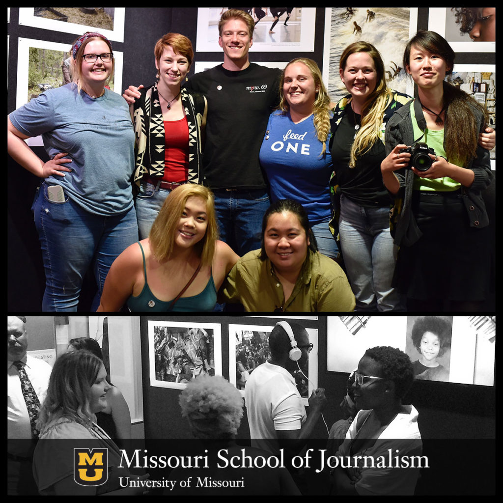"Graduating photojournalism students were responsible for the entire ""Parting Shots 7"" exhibit, an annual gallery show which recognizes some of the best work by Missouri students. Planning and mounting the exhibit included editing, toning and printing the selected images."