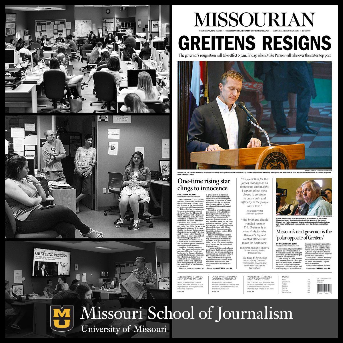 Resignation of Missouri Gov. Eric Greitens