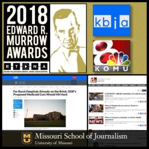 KBIA and KOMU 2018 Murrow Award Winners
