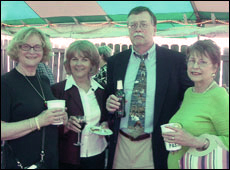 Judy Bolch, Nancy Moen, Kennedy and Pansy Cure