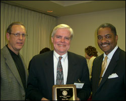 Steve Graham, Dean Mills and Dr. Elson Floyd