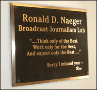 Ronald D. Naeger Broadcast Journalism Lab