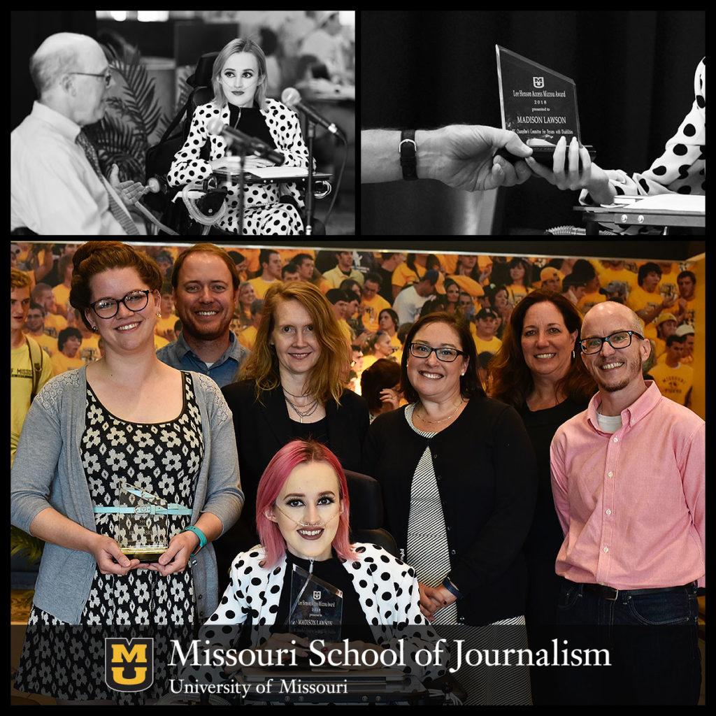 Madison Lawson 2018 Lee Henson Access Mizzou Award