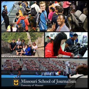 Missouri Student Journalists at 2018 China Open