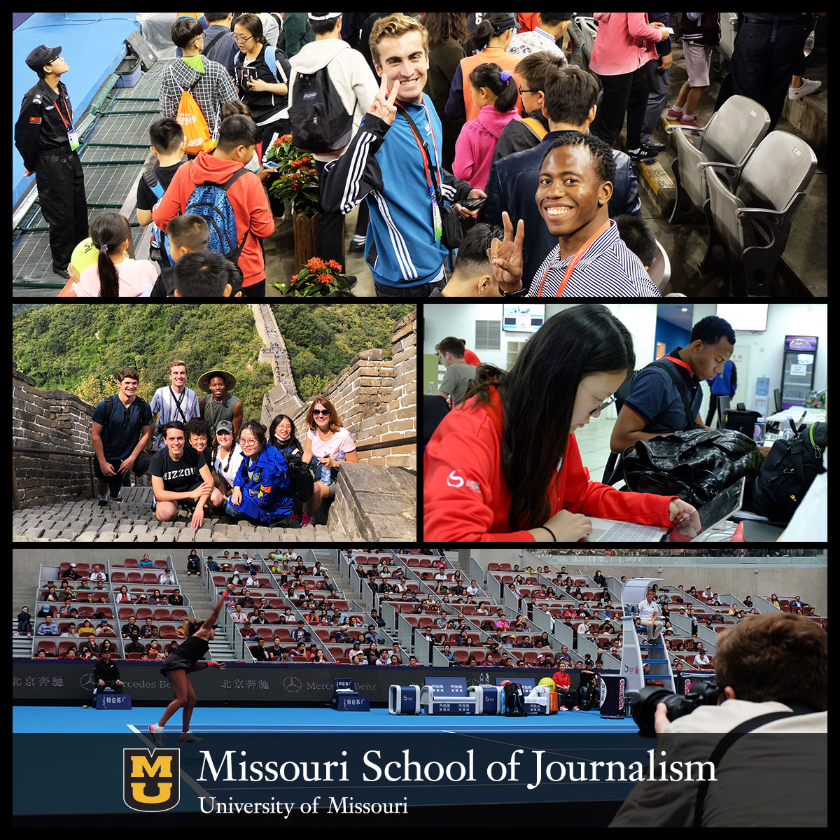 Missouri Student Journalists at 2018 China Open
