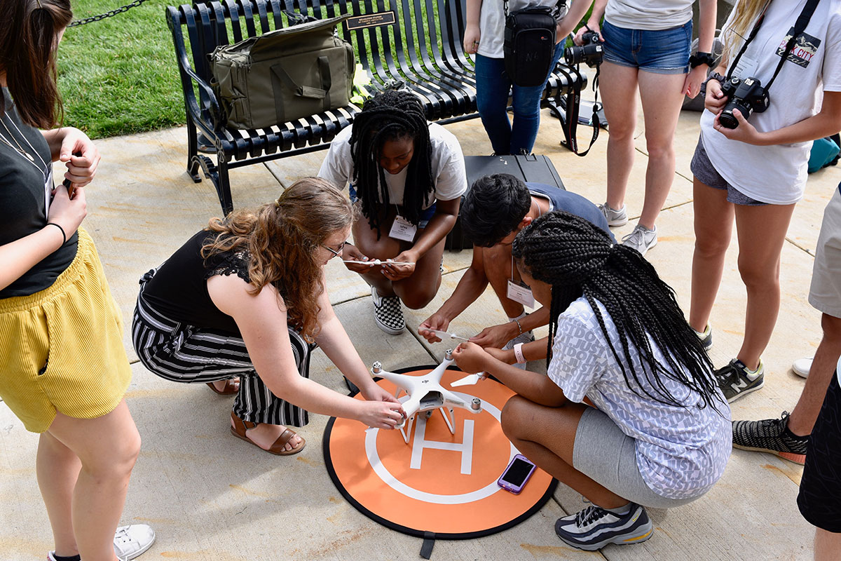 Students Participating in Drone Journalism