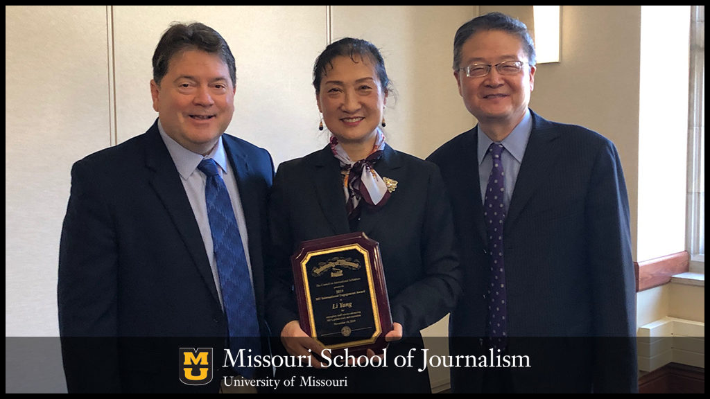 Li Yang awarded University of Missouri 2019 International Engagement Award