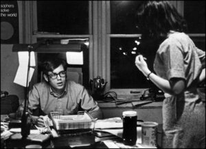 Pat Hiatte, BJ '73, served as an editor for the Maneater in 1971. Even though it was reportedly a slow news year, editors worked around the clock to help reporters produce more investigative and student rights-related pieces. Hiatte says his journalism training allowed him to have a successful 35-year career in the railroad industry. Source: 1971 University of Missouri Savitar.