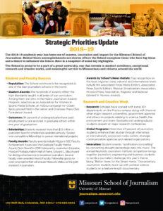 Strategic Priorities Update: 2018-2019 (PDF 2MB)