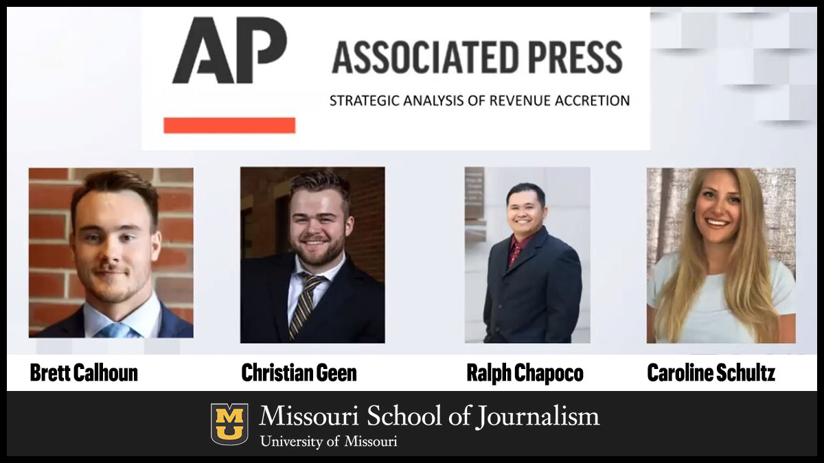 Team Associated Press: Brett Calhoun, Christian Geen, Ralph Chapoco and Caroline Schultz