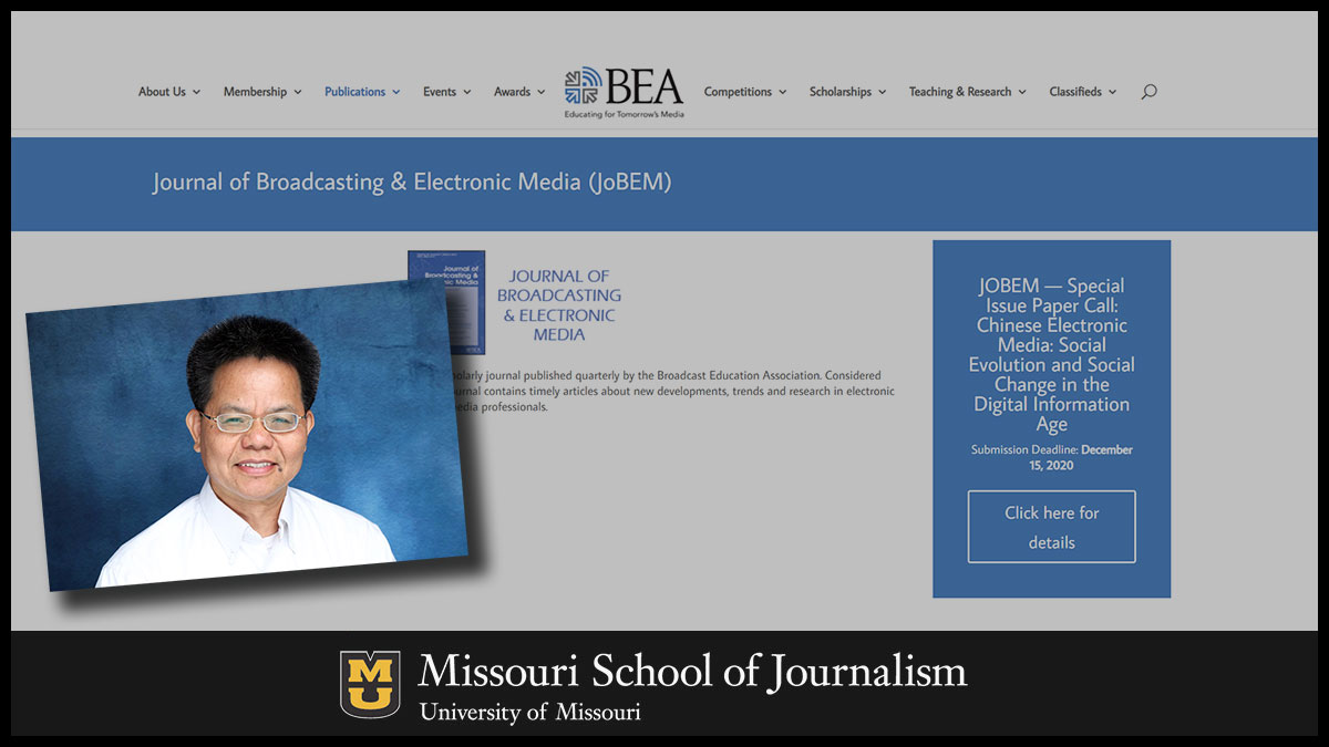 Shuhua Zhou, professor and the Leonard H. Goldenson Endowed Chair in Radio and Television at the Missouri School of Journalism, has been selected as editor-in-chief of the Journal of Broadcasting and Electronic Media.