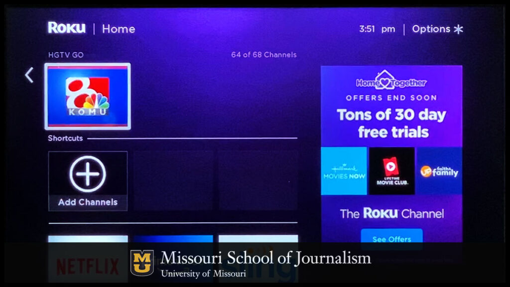 KOMU Now Available on Roku