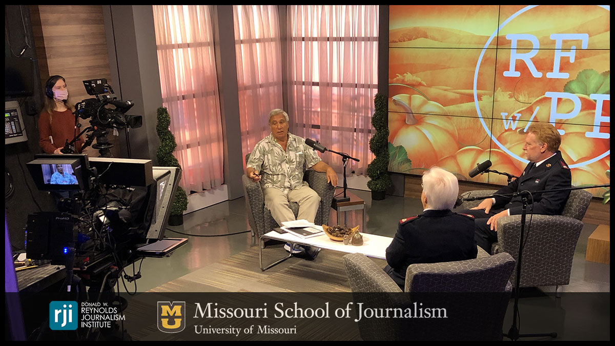 """Radio Friends with Paul Pepper"" is just one of the programs that will make use of the new set in the RJI studio."