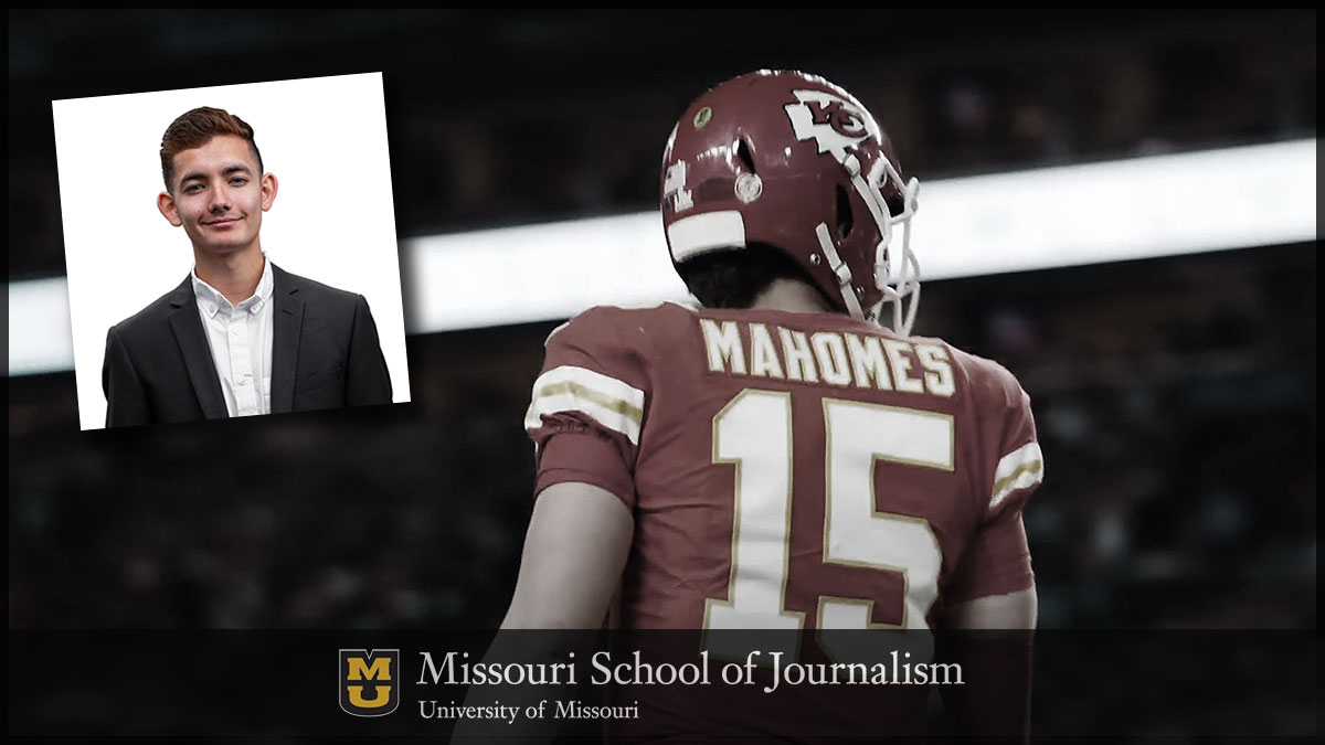 Strategic Communication senior Diego Galicia has grown tremendously as a professional during his time at Mizzou; when the Kansas City Chiefs advanced to Super Bowl LIV, they took Galicia with them.