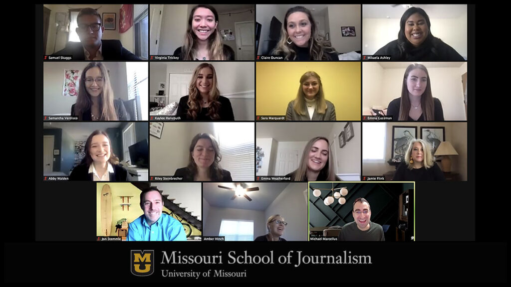 Three teams of Missouri strategic communication students worked virtually to create integrated campaigns for AT&T targeted to the health and wellness journey for college students in campus environments.