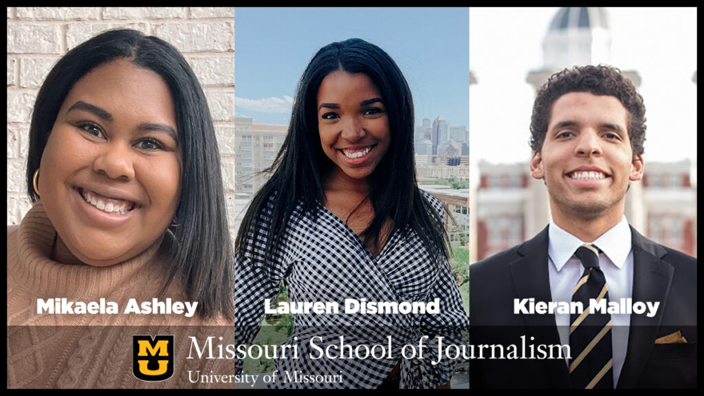 Three J-School Strategic Communication students participate in Publicis Multicultural Talent Pipeline conference | Mikaela Ashley, Lauren Dismond, Kieran Malloy