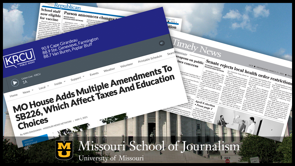 Missouri School of Journalism's legislative reporting program helps fill gaps for community news producers, provides necessary state news for communities